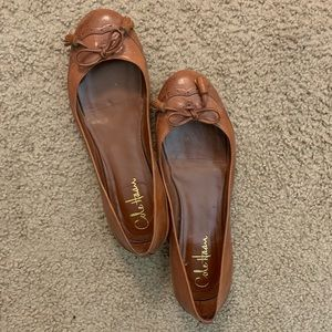 Brown Leather Cole Han Ballet Flats